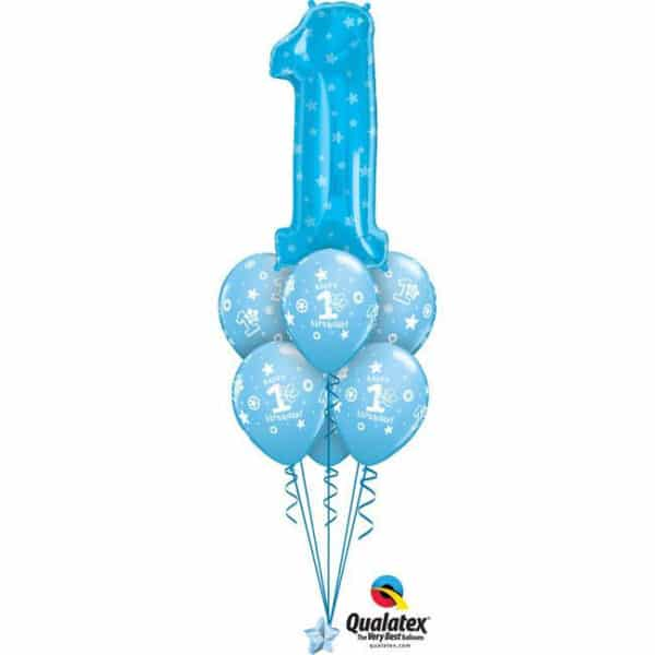 Blue Number One Birthday